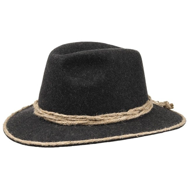 Traditional Tyrolean Hat with Cord Trim b2f456ca5b63