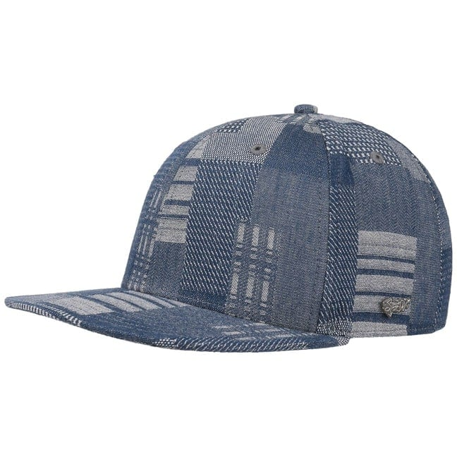 b51fc4bef4c Denim Patchwork Baseball Cap by Stetson